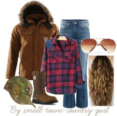 """""""Farm work"""" by small-town-country-gurl on Polyvore  Carhart Parka - must for the barn on those cold winter nights"""
