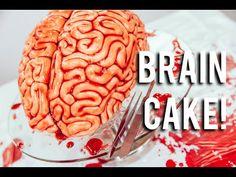 How To Make A WALKING DEAD BRAIN... cake! Red velvet cake, fondant and raspberry jam! - YouTube