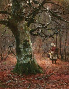 "Blandford Fletcher -   ""The Old Beech Tree"" (1910)"