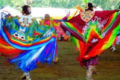 I miss this. Blackfeet shawl dancers in Montana.