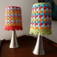 Karin aan de haak! Lampshade - Crochet - Lampenkapje - Made with Paris