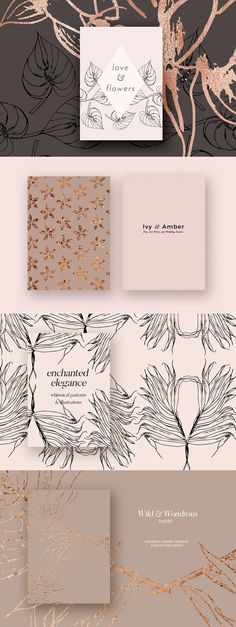 Autumn Gold Patterns & Illustrations by Laras Wonderland on @creativemarket