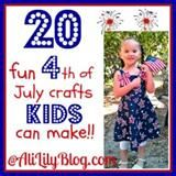 20 4th of July Crafts for Kids; The site this comes from has many many patriotic ideas!!