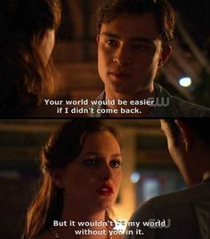 I ship Blair and Chuck --- Gossip Girl Gossip Girl Chuck, Gossip Girls, Mode Gossip Girl, Gossip Girl Quotes, Gossip Girl Scenes, Gossip Girl Blair, Tv Quotes, Movie Quotes, Focus Quotes