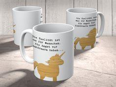 """Tasse Einhorn aus Keramik  Weiß - Das Original von Mr. & Mrs. Panda.  Eine wunderschöne Keramiktasse aus dem Hause Mr. & Mrs. Panda, liebevoll verziert mit handentworfenen Sprüchen, Motiven und Zeichnungen. Unsere Tassen sind immer ein besonders liebevolles und einzigartiges Geschenk. Jede Tasse wird von Mrs. Panda entworfen und in liebevoller Arbeit in unserer Manufaktur in Norddeutschland gefertigt.    Über unser Motiv Einhorn  """"Sei immer du selbst. Außer du kannst ein Einhorn sein. Dann…"""