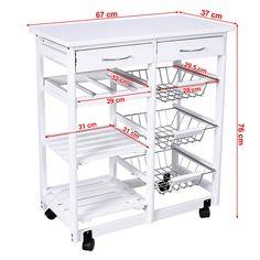 sobuy servierwagen, küchenwagen, rollwagen mit ... - Rollwagen Für Küche