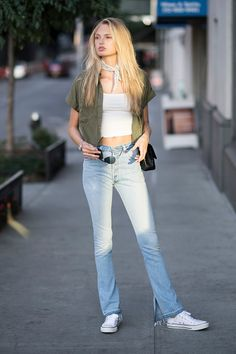 Romee Strijd Pictures and Photos Denim Fashion, Star Fashion, Fashion Models, Fashion Outfits, Fashion Trends, Victoria Secret Fashion Show, Street Style Women, Street Styles, Outfit Goals
