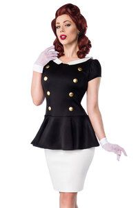 retro stijl jurk zwart-wit
