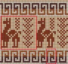 Tapestry Crochet Patterns, Crochet Stitches Patterns, Crochet Chart, Mosaic Patterns, Knit Or Crochet, Cross Stitch Patterns, Knitting Patterns, Inkle Weaving, Tablet Weaving