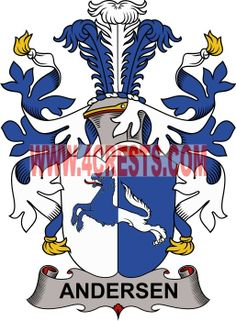 Andersen coat of arms / family crest #denmark #by name #symbol #family #shield #crest #by last name #genealogy #heraldry #shields #danish #tattoo #craft #logo