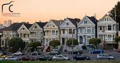 Who can name a famous house within this picture? — in San Francisco, California.