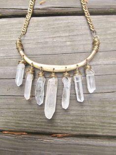 TatiTati Style  ➳➳➳ Crystal necklace - boho, feathers & gypsy spirit