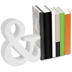 Balvi Houten Boekensteun & – Wit - Afmetingen:22,5 x 19 x 5 cm - €26,50 (voor-thuis.nl)
