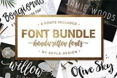 Handwritten Font Bunde by Skyla Design