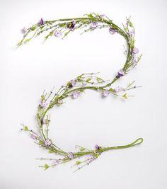 Blooming Spring 66'' Berry Garland-Purple