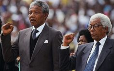Walter Sisulu | Nelson Mandela and Walter Sisulu pictured in 1990