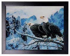 HD 3D Iconic Art Print - Eagles