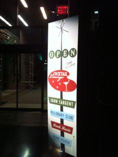 vertical signage