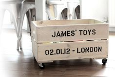 Personalized toy box ❥