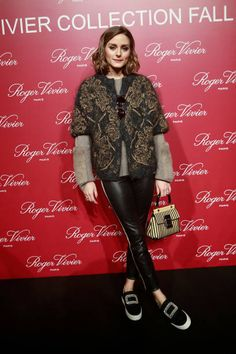 Olivia Palermo attends the Roger Vivier Fall/Winter 2018 Press Presentation at Espace Cambon Capucines during Paris Fashion week on February 27 2018...