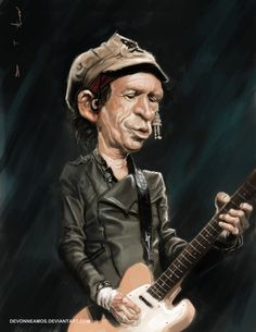 Keith Richards by DevonneAmos on deviantART