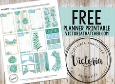 FREE Succulents Planner Printable BY Victoria Thatcher