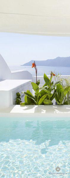 Private pool with spectacular views at Kirini Suites & Spa