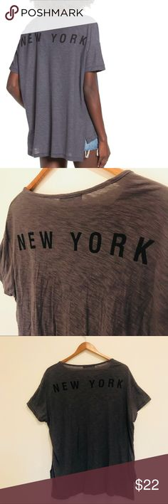 """Nordstrom Michelle by Comune New York Tee A soft cotton-modal blend adds an old-favorite feel to this casual tee styled with a solo patch pocket at the chest and city-favoring graphics at the back. 22 1/2"""" front length; 26"""" back length (size Medium). Crewneck. Chest patch pocket. Short sleeves. 50% cotton, 50% modal. Hand wash cold, dry flat. By Michelle by Comune; imported. Nordstrom Tops Tees - Short Sleeve"""