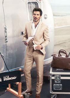 Sand coloured linen suit   Wedding   Pinterest   Linen suit, Suits
