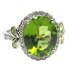 1stdibs - White+Gold+Peridot+and+Diamond+Ring explore items from 1,700+ global dealers at 1stdibs.com