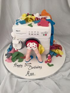 Washing machine cake