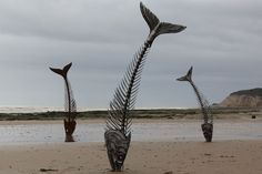 Fish Metal Sculptures by Leigh Dyer