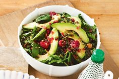 Avocados and raspberries contain vitamin E, which helps to boost the immune system and is important for general health.