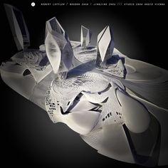 Studio Zaha HADID Vienna /// Semiological Project / University Campus /// (c) Robert LOFFLER / Bogdan ZAHA / Jingjing ZHOU