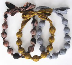 artstar by aletha: Upcycled Tie Necklace Tutorial : I may stitch a bunch of Christmas ties end to end to make a garland for my tree.