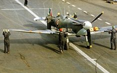 IIc, of 880 Squadron on board HMS Indomitable, Ww2 Aircraft, Military Aircraft, Royal Navy Aircraft Carriers, Hms Ark Royal, The Spitfires, Supermarine Spitfire, Flight Deck, War Machine, Fighter Jets