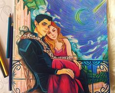 Rhys and Feyre - It's beautiful but my only problem is Rhys looks like he's wearing eye shadow