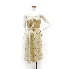 70s Cream Dot Dress  by Kay Windsor  The Modern Historic