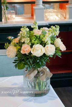 Top table arrangement Bromley Court Hotel wedding package.