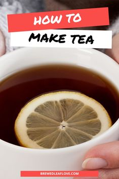 Here's what you need to know to make tea taste better whether you're brewing from tea bags, making tea on the stove, or making tea from tea leaves from scratch in a teapot. Easy steps and instructions to properly make the best iced and hot tea. Hot Tea Recipes, Green Tea Recipes, Green Tea Drinks, Green Teas, Green Tea Ice Cream, Perfect Cup Of Tea, Tea Benefits, Brewing Tea, How To Make Tea