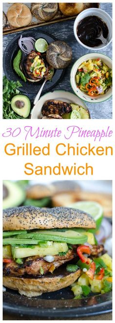 Weeknight Grilled Chicken Sandwiches with Pineapple Salsa Recipe (30 Minute Meal) #KCMasterpiece #sponsored