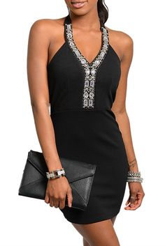 DHStyles Women's Black Sexy Plunging Jeweled Neckline Halter Mini Date Dress - Medium #sexytops #clubclothes #sexydresses #fashionablesexydress #sexyshirts #sexyclothes #cocktaildresses #clubwear #cheapsexydresses #clubdresses #cheaptops #partytops #partydress #haltertops #cocktaildresses #partydresses #minidress #nightclubclothes #hotfashion #juniorsclothing #cocktaildress #glamclothing #sexytop #womensclothes #clubbingclothes #juniorsclothes #juniorclothes #trendyclothing #minidresses…