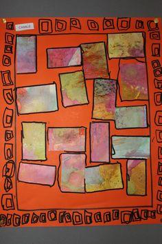 MS pavages pastels gras et encres + graphismes au posca