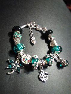 Mom,May birthstone,Emerald Green,European Charm Bracelet
