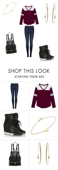 """""""KC UNDERCOVER"""" by manad ❤ liked on Polyvore featuring Dr. Denim, Victoria's Secret PINK, DKNY, Jennifer Meyer Jewelry, Milly, Lizzie Mandler, women's clothing, women, female and woman"""
