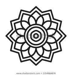 Simple Mandala Shape for Coloring. Vector Mandala. Floral. Flower. Oriental. Book Page. Outline. Easy Mandala Drawing, Simple Mandala, Mandala Art, Mandala Coloring Pages, Colouring Pages, Simple Doodles, Celtic Symbols, Rangoli Designs, Mandala Design