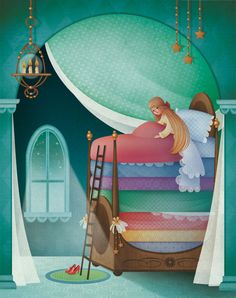 Gaia Bordicchia Illustrations: La princesse au petit pois