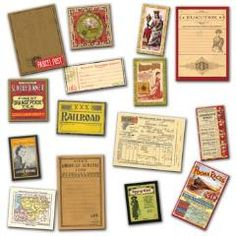 Vintage Inspired Gypsy Ephemera Labels from www.KraftOutlet.com $3.99