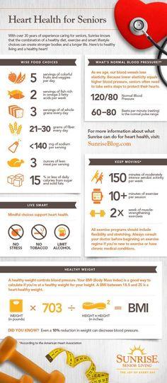 #Healthy heart. Heart Health for #Seniors Infographic. http://lindme.gosbc.com/sbc