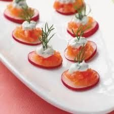 Smoked salmon makes delicious, quick and easy appetizers for Christmas dinners. You can serve the smoked salmon on a platter with some olives...